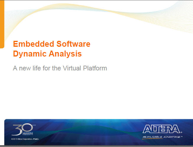 Altera Embedded Software Analysis