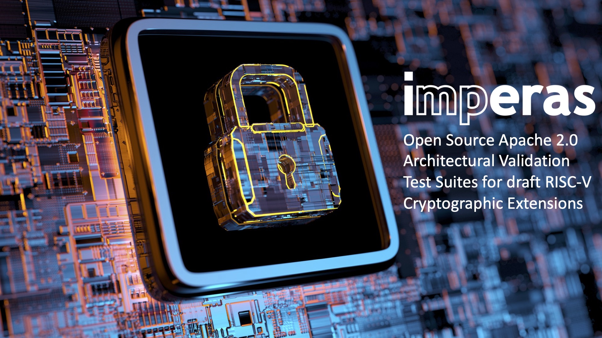 Imperas Open Source Apache 2.0 Architectural Validation Test Suites for draft RISC-V Cryptographic Extensions