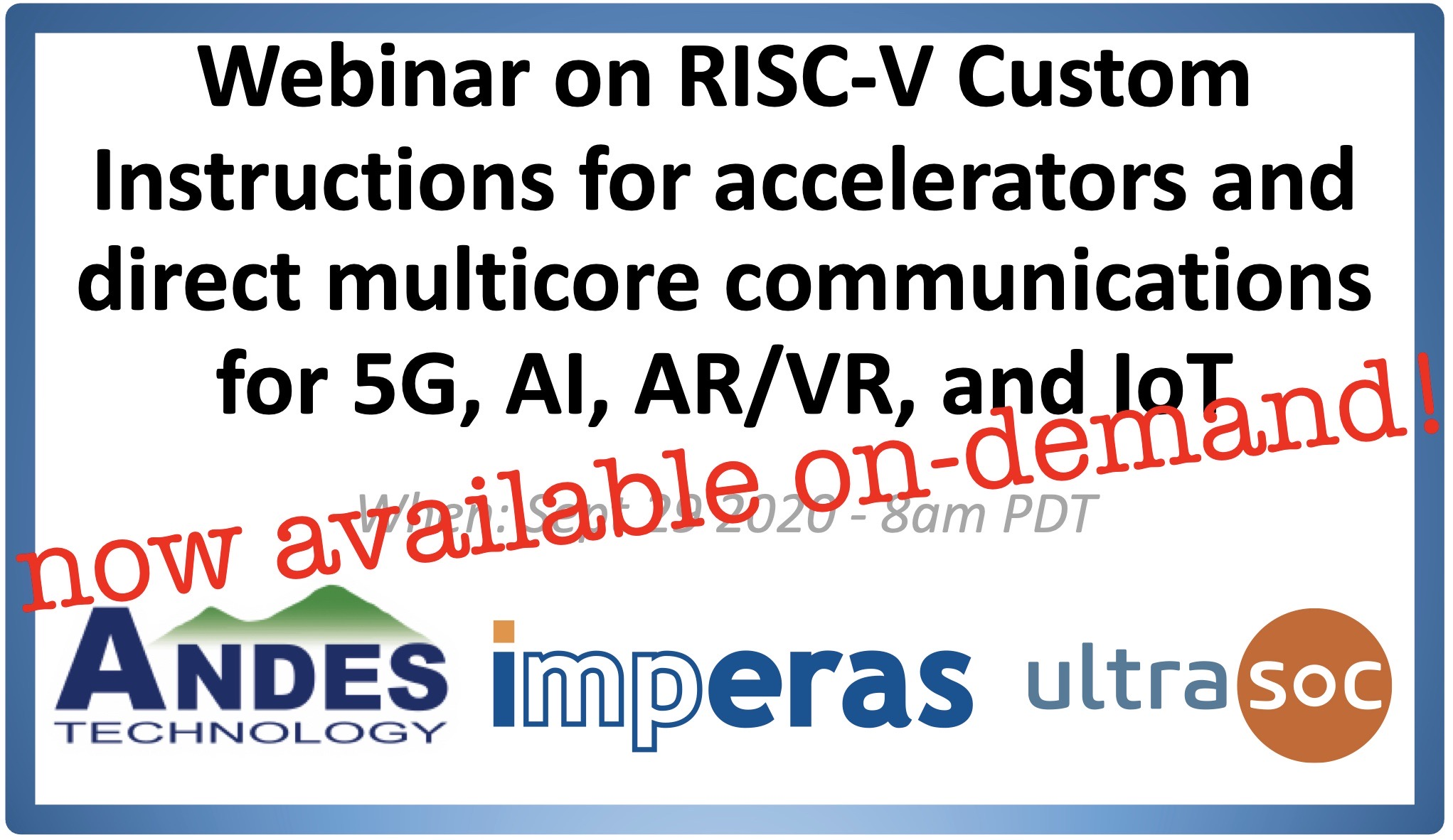 Recording now available for webinar on RISC-V Custom Instructions